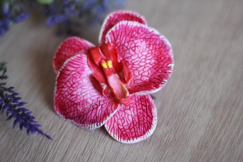 """Заколка для волос """"Экстравагантная орхидея"""""""