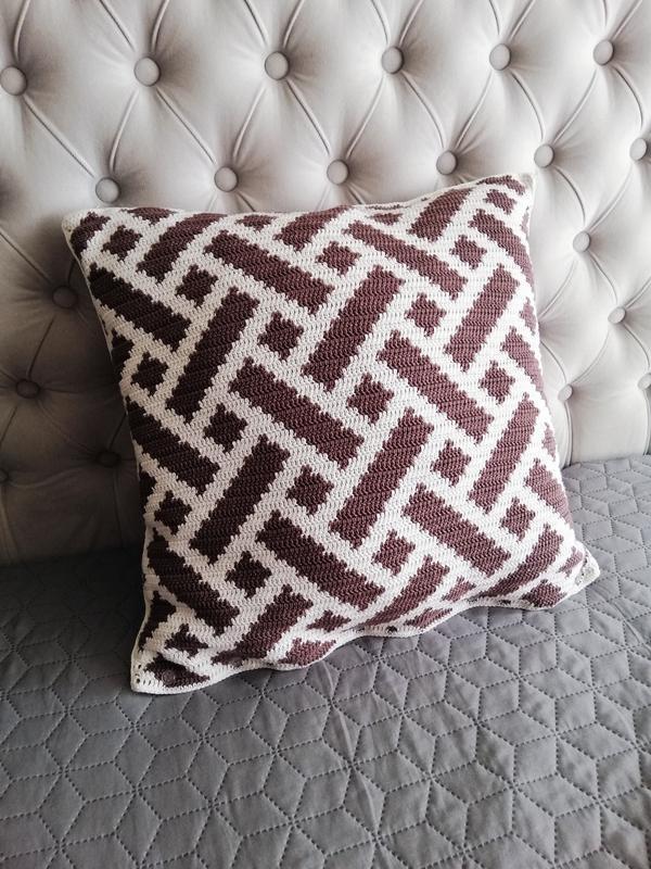 Декоративная подушка, Подушка crochet, Чехол на подушку, Вязаная подушка, Интерьерная подушка