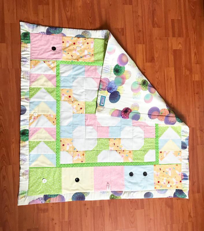 Игровое развивающее лоскутное одеяло для детей 0+