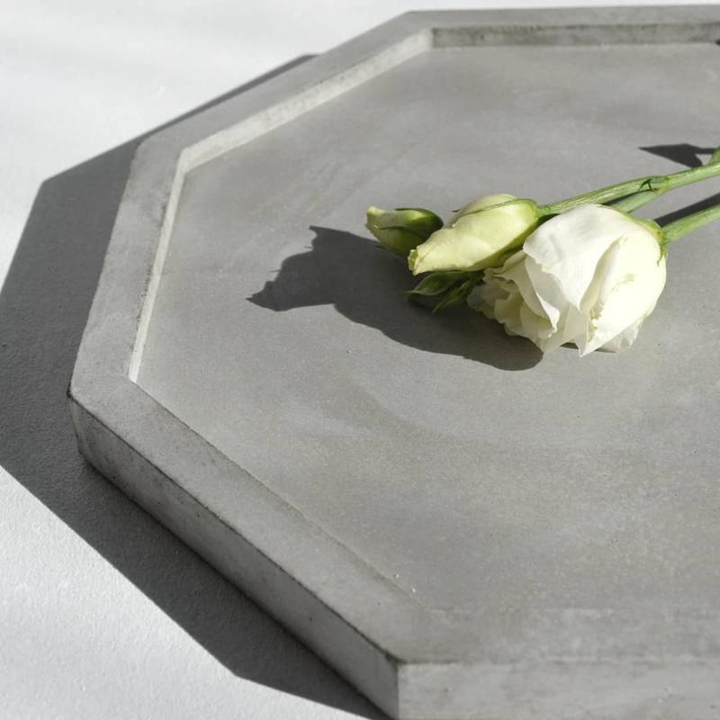 Подставка из бетона, подставка для свечей