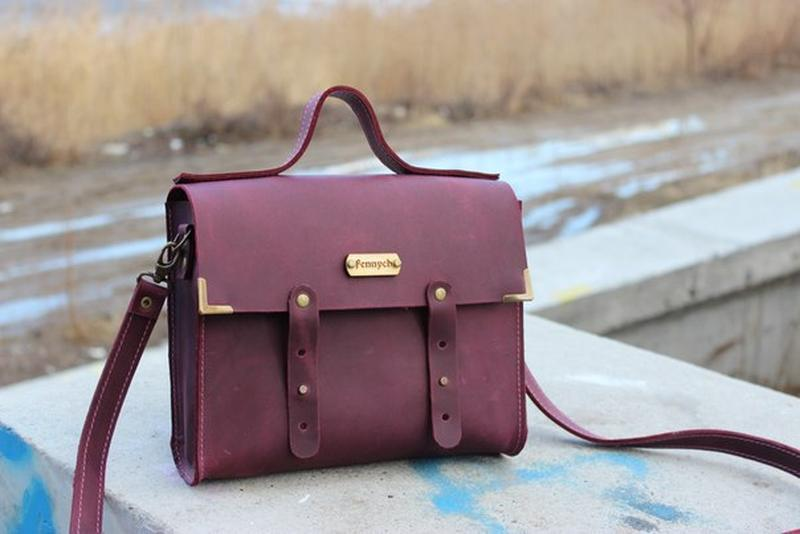 424100e5399e Кожаная сумка ручной работы Винтаж ручной работы купить в Украине ...