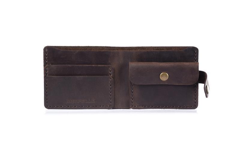 Кожаный кошелек мужской коричневый (Кожа Crazy Horse)