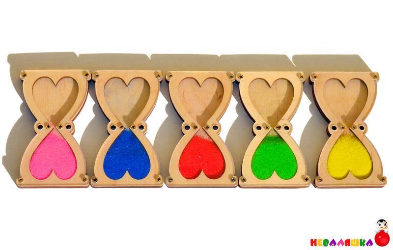 Заготовка Деревянные ПЕСОЧНЫЕ ЧАСЫ для бизиборда Комплект +Песок Дерев'яний Пісочний годинник