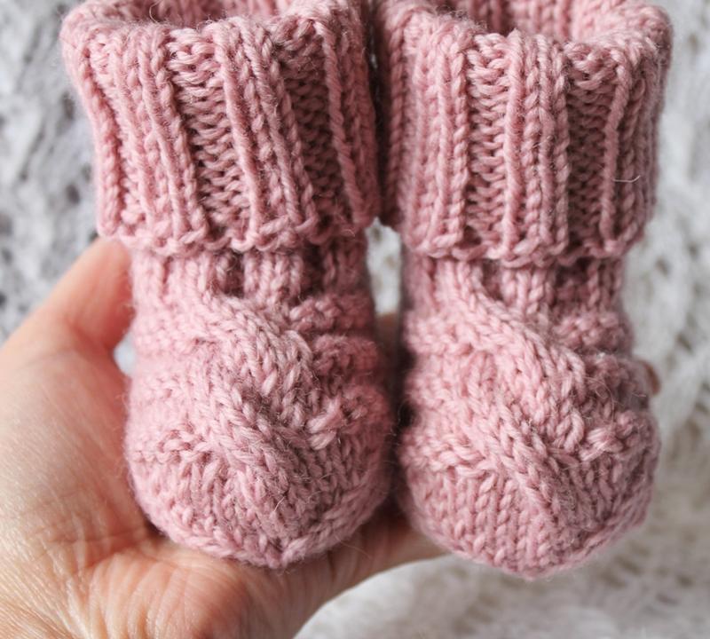 Носочки розовые 80% овечьей шерсти