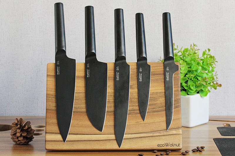 Магнітна Дерев'яна Дошка-Підставка Для Ножів Кухонна Дощечка Для Нарізки Подачі З Гравіюванням