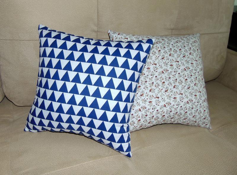 Двусторонняя диванная подушка Геометрия