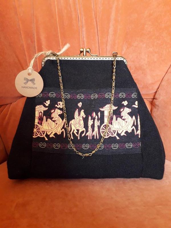 """текстильная сумка с фермуаром коллекция """"Проторенессанс"""""""