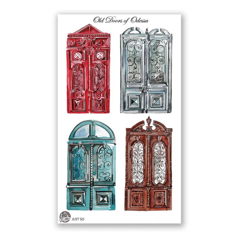 Набор виниловых наклеек «Одесские двери»