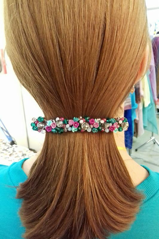 Бордовая вишневая заколка для волос с цветами, украшения для волос, подарок девушке