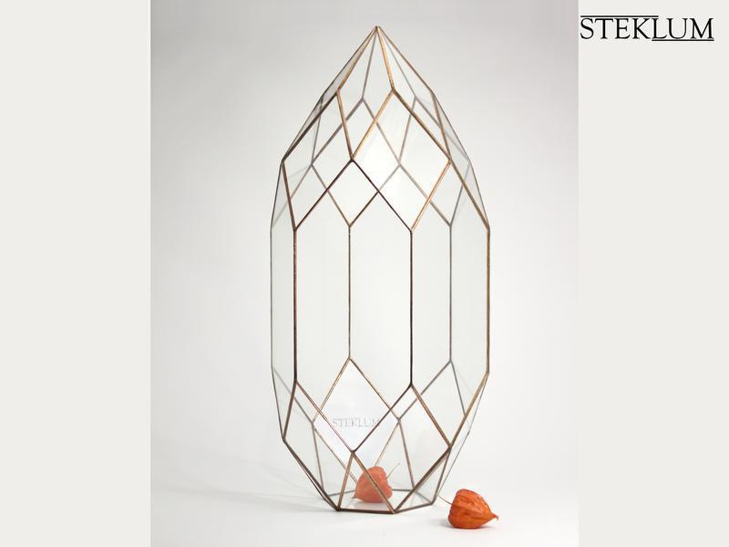 Флорариум №12 maxi Cone copper