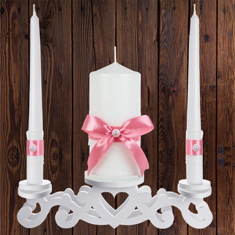 """Набор садебных свечей """"Семейный очаг"""", пудровый цвет, арт. CAND-25"""