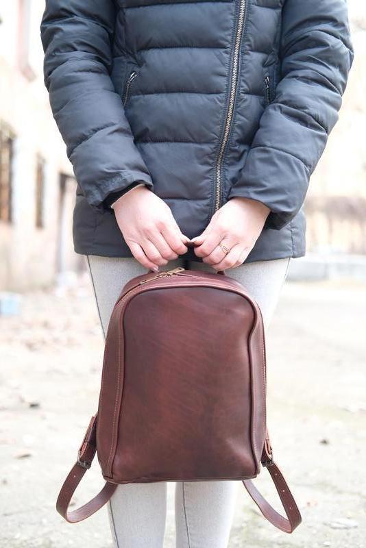 Кожаный рюкзак Колибрончик