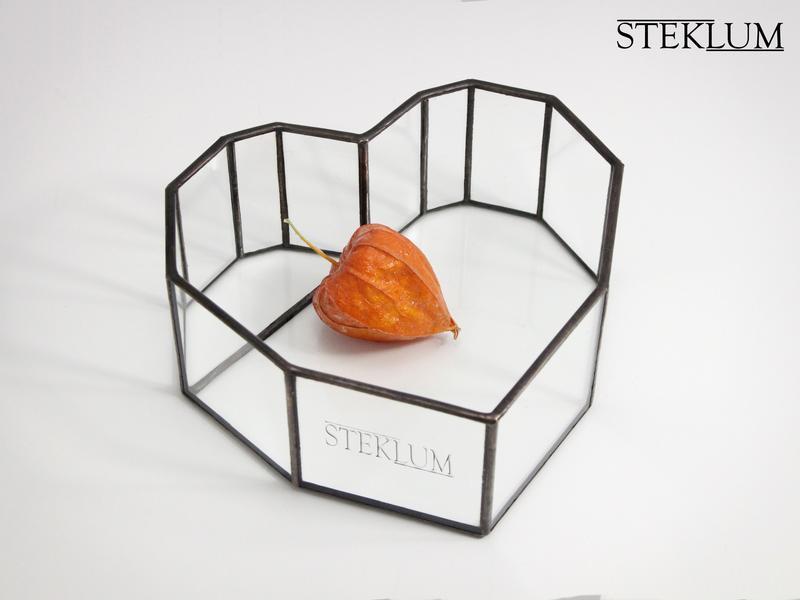 Флорариум No30 mini  Heart black
