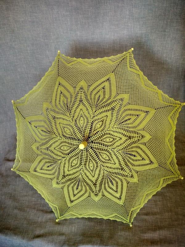 Салатовый зонтик