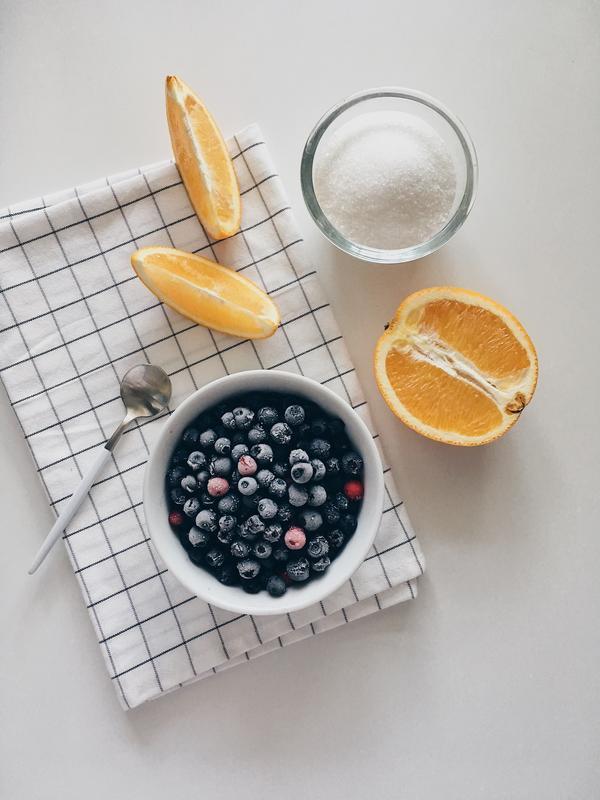 Черничное варенье с апельсином, 220 г