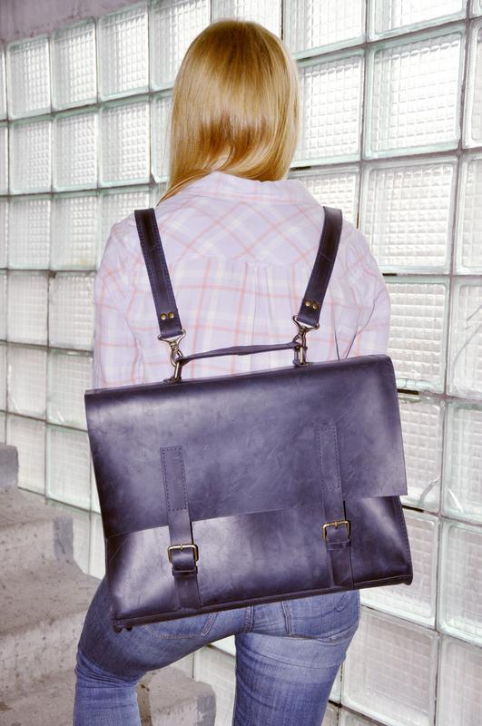 "Кожаная сумка-рюкзак ""Кичи"""