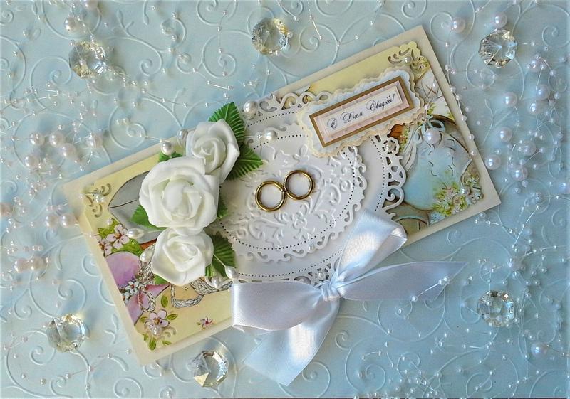 Красивые открытки с днем свадьбы ручной работы