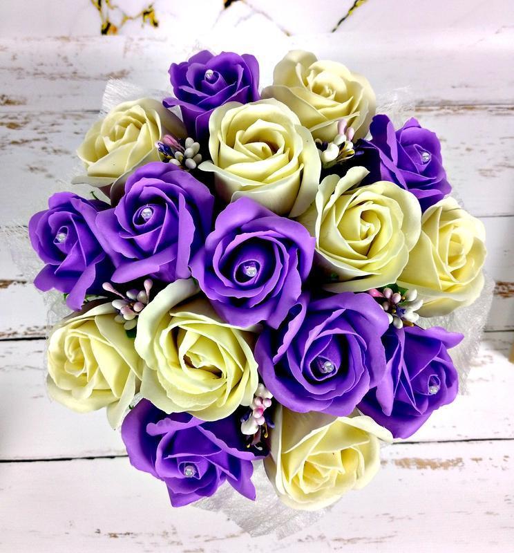 Букет из мыльных цветов, 17 роз. Букет из мыла. Подарок маме, учительнице, подруге, жене
