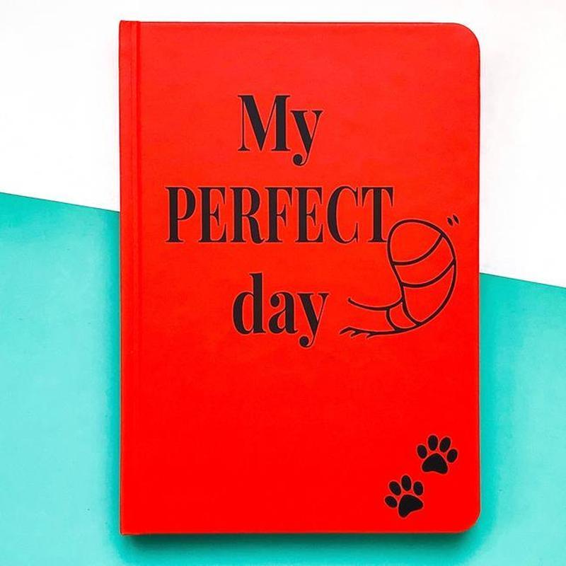 Блокнот с котом Хвост и Усы Diary My perfect day недатированный русский язык Красный