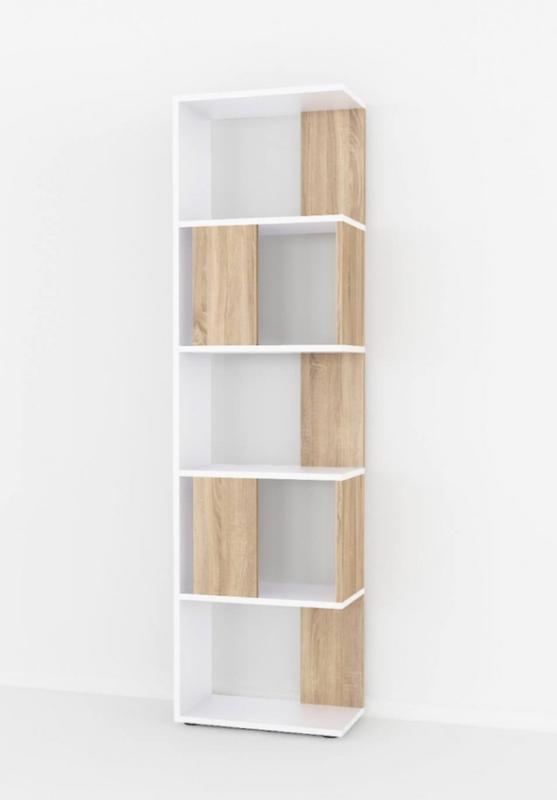 Книжный стеллаж,белая/дуб Сонома