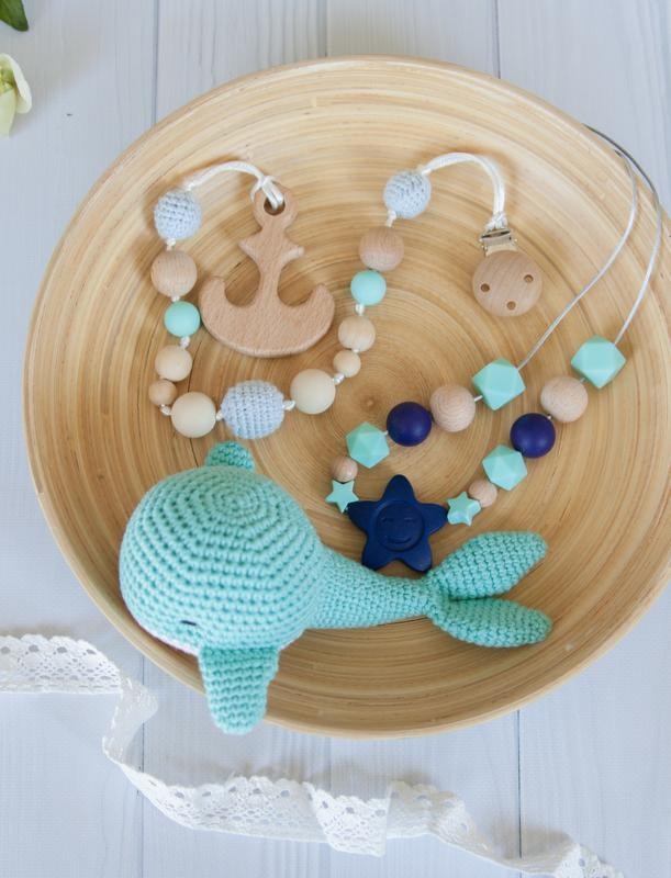 Набор Голубой Кит слингобусы и грызунок