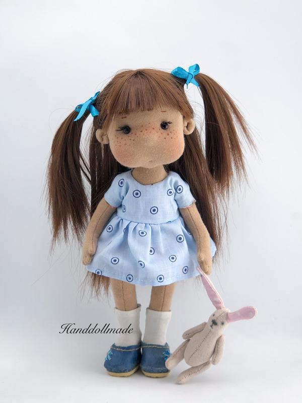 Игровая-интерьерная кукла с зайчиком