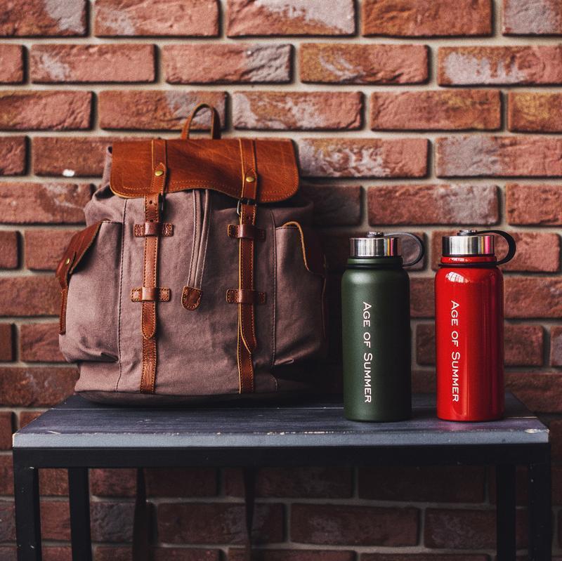 Стильный Винтажный Рюкзак с отделением для планшета / IPad. Кожа. Хлопок. Эксклюзивный подарок