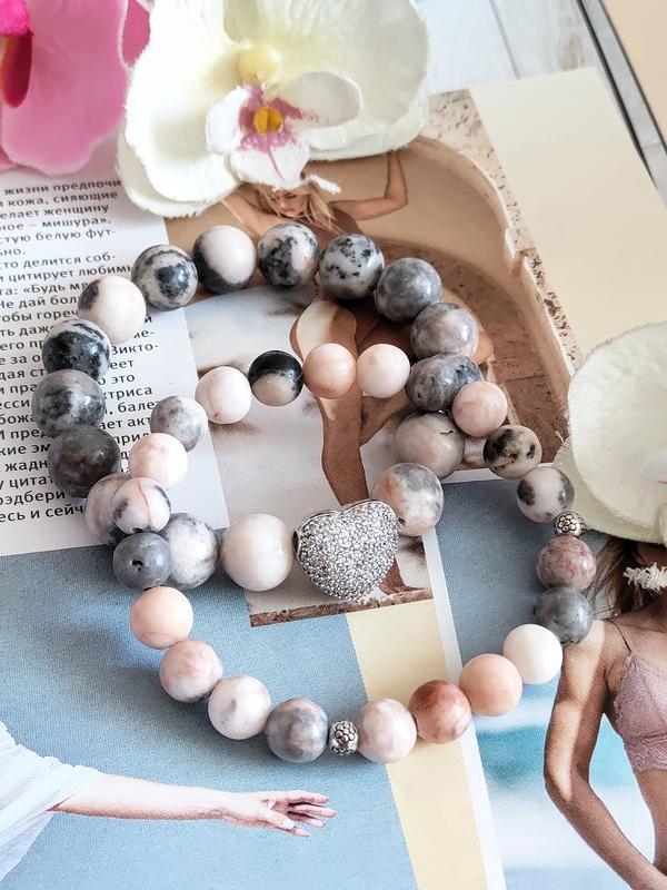Набор браслетов из натуральных камней, браслеты из агата,яшмы, браслет на подарок