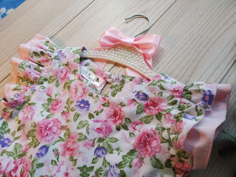 Летний комлпект блумеры и блуза из натурального хлопка