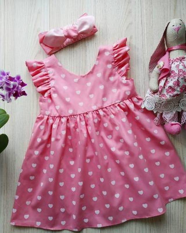 Летнее платье из натурального хлопка