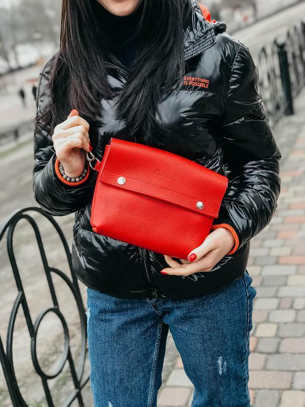 Нагрудная сумка Slim красная №634049 - купить в Украине на Crafta.ua