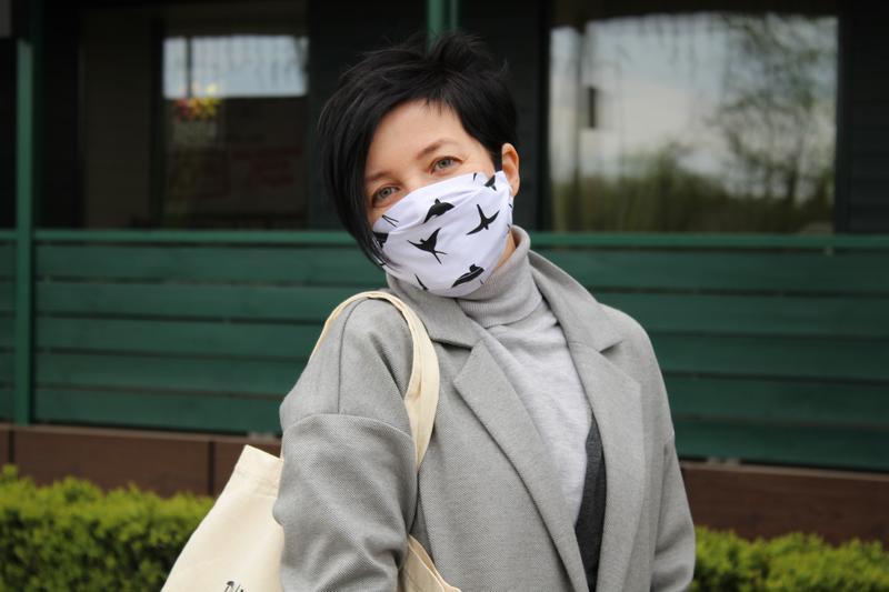 Многоразовая маска для лица - цветы, квіти, Многоразовые трёхслойные маски с кармашком для фильтров