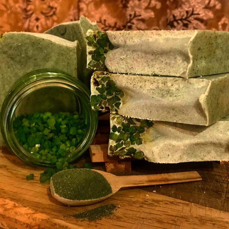 Мыло с зелёной глиной