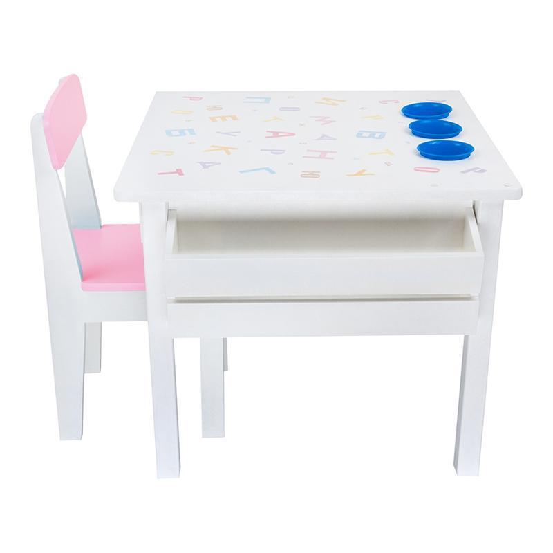 Комплект столик и стульчик в детскую, деревянный