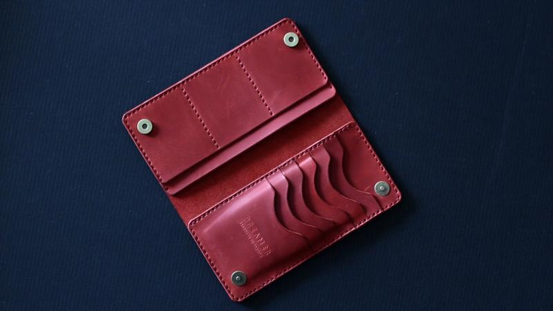 Кожаный портмоне Long Wallet B1