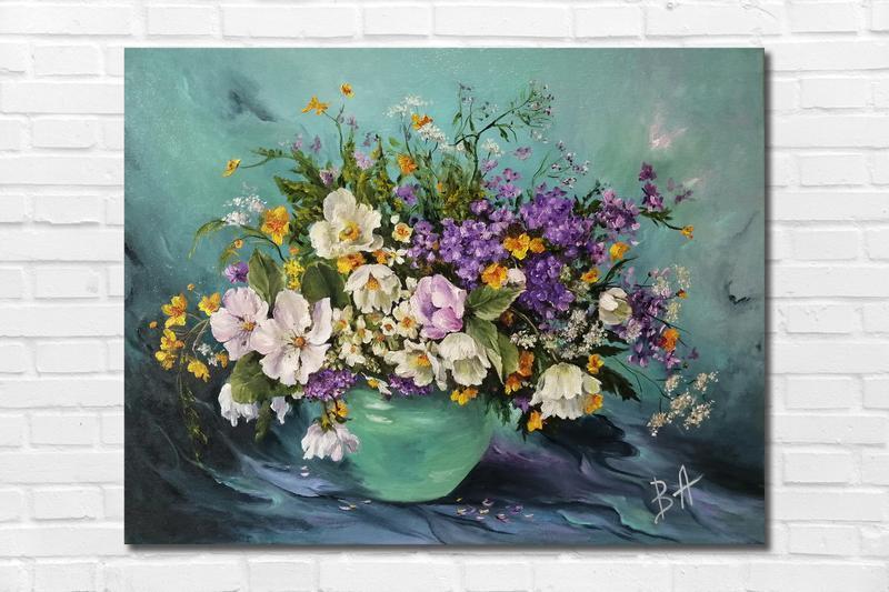 """Картина маслом """"Весеннее настроение"""" 35х45 см. Холст на подрамнике, масло"""