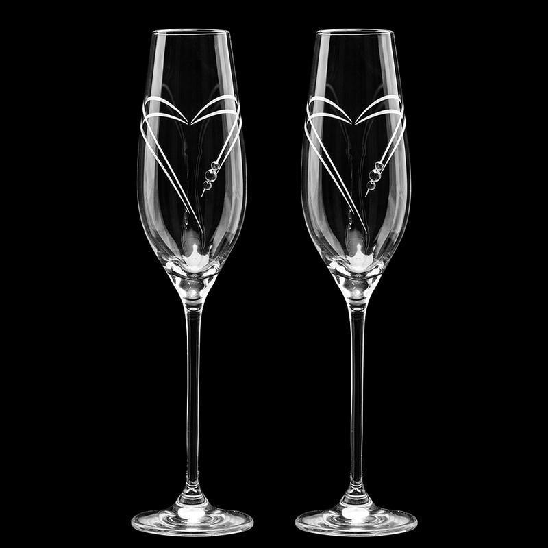 Весільні елітні келихи з гравіруванням і стразами Swarovski (арт. S6)