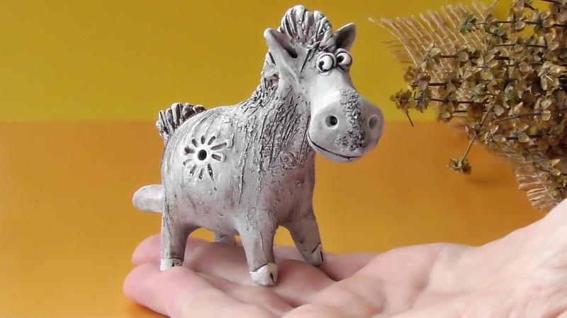Свистулька конь этно инструмент