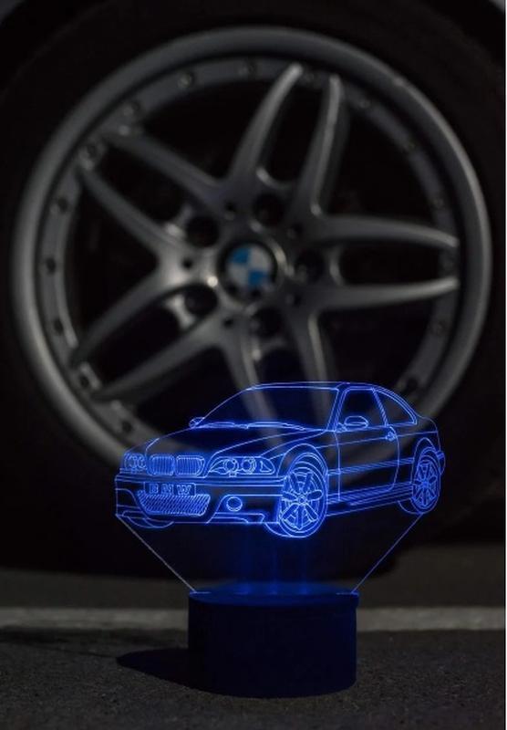 БМВ, BMW, ночник, светильник, LED лампа, авто, подарок мужчине мальчику, игрушка, декор