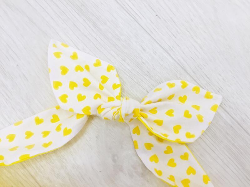 желтая повязка на голову/солоха/летние аксессуары для девушек/обруч с бантом для волос/