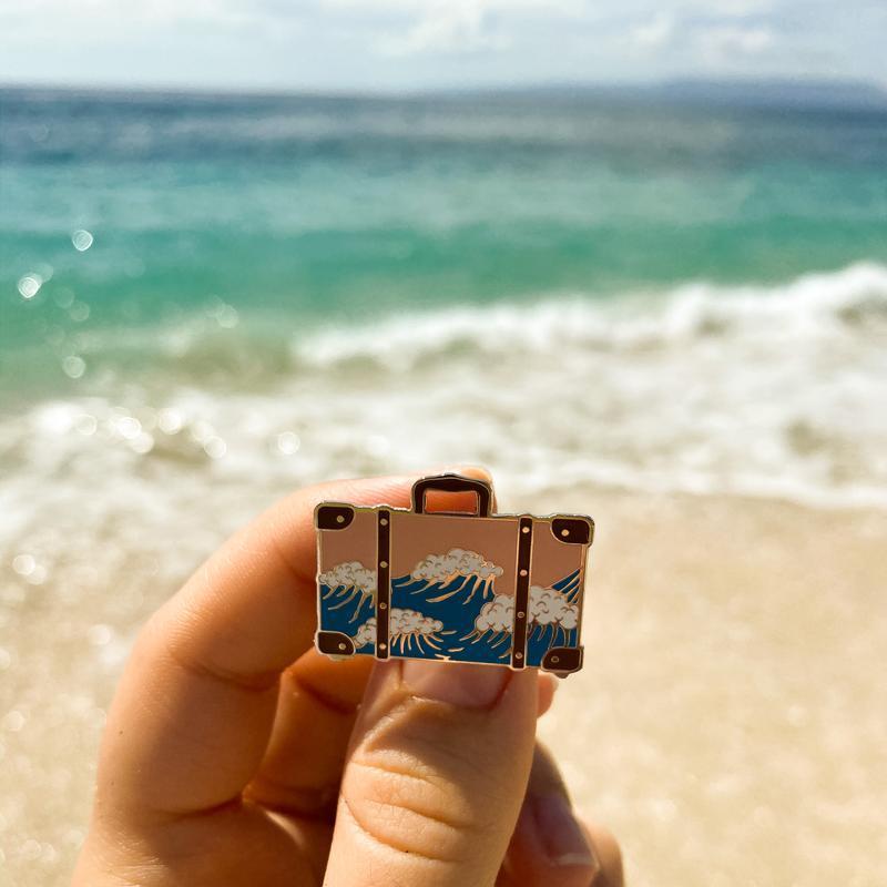 Эмалированный значок «Море»