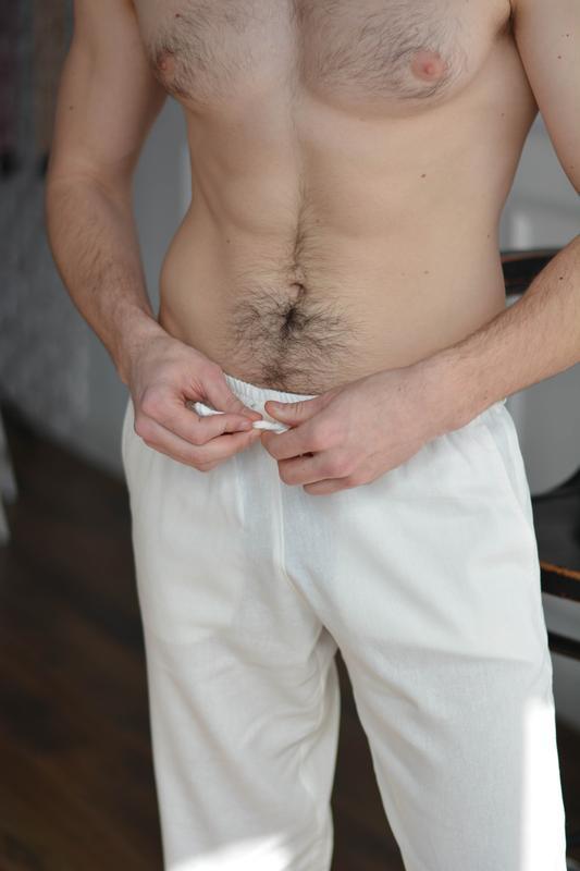 Мужские летние брюки из натурального льна MEN CASUAL LINEN PANTS
