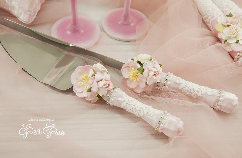 Свадебный набор розовый / Рожевий набір для весілля / Нежно-розовый набор / Бархатный набор