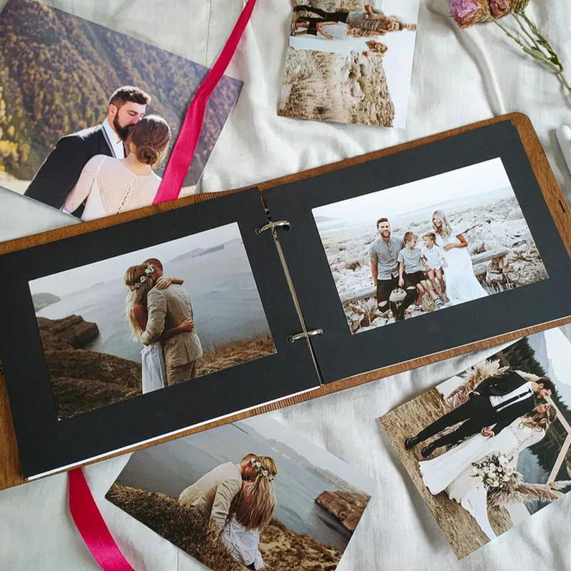 Фотоальбом из дерева - подарок на годовщину, свадьбу! СКИДКА!