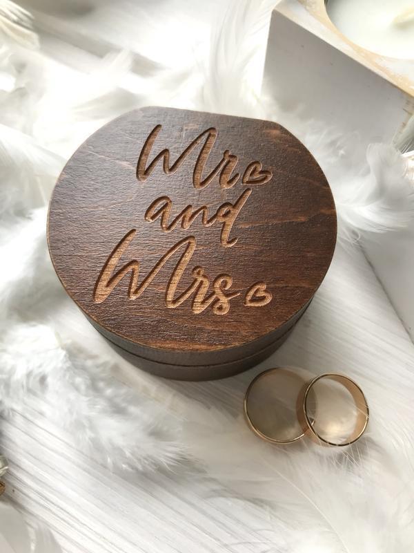 Свадебная шкатулка Mr&Mrs Коричневая