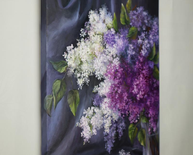 "Картина маслом ""Бархат ночи"" 45х35 см, холст на подрамнике, масло"