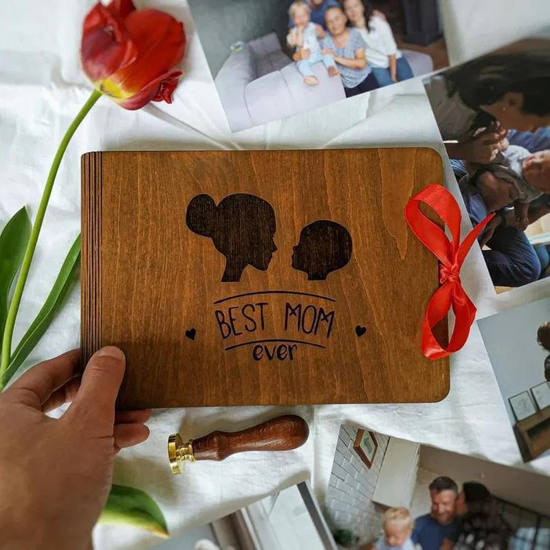 Подарок маме, бабушке - фотоальбом из дерева | подарок теще, свекрови