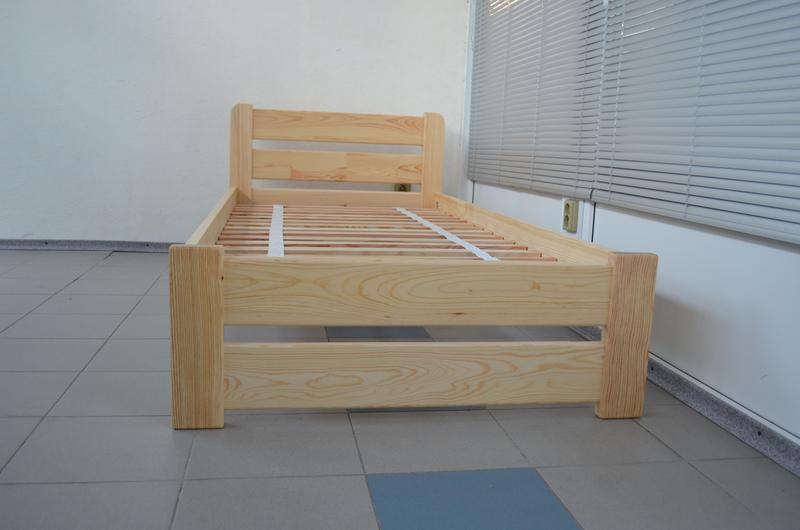 Кровать Односпальная Деревянная 90х200 Рич. Массив Сосны