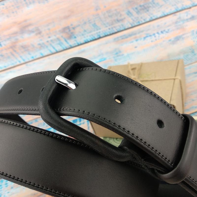 Ремень мужской с кожаной пряжкой JK-3535 black (120 см)