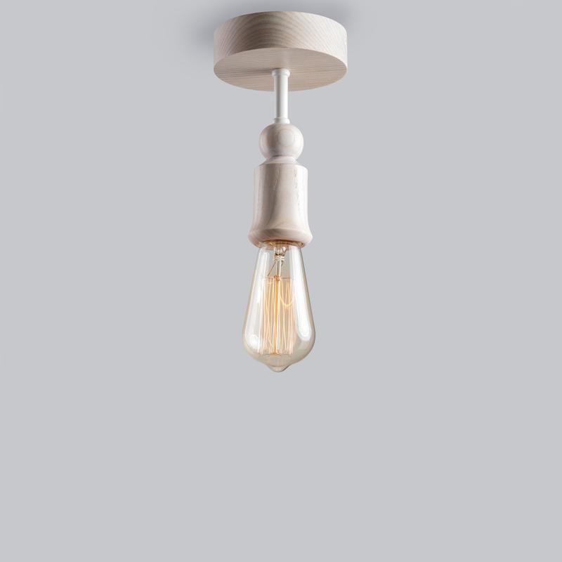 светильник потолочный из массива ясеня SPUTNIK